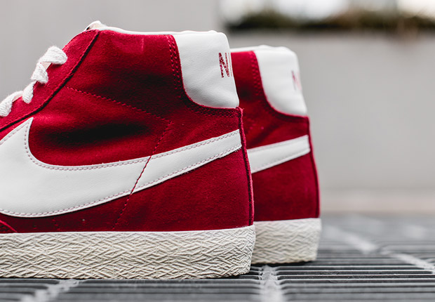 Nike Blazer Mid Premium Vintage Varsity Red Jordan E9uFYcqbi