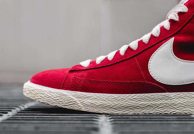 Nike Blazer Mi Prime Rouge Varsity Cru 72y4v