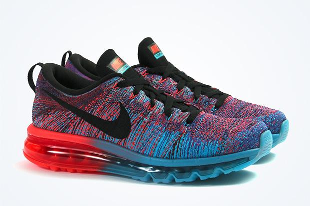 Nike Flyknit Air Max - Blue Lagoon - Bright Crimson