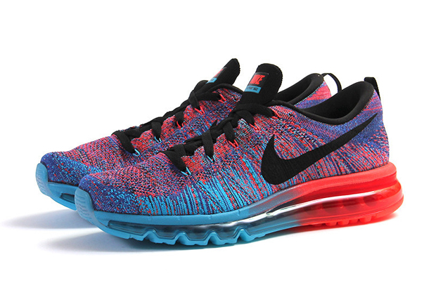 new style 05988 a16b0 Nike Flyknit Air Max Color: Blue Lagoon/Black-Bright Crimson Price: $225