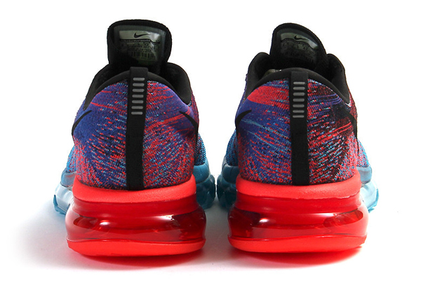 nike flyknit air max blue lagoon/black-bright crimson