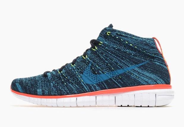 edd8df2d8fdd Nike Free Flyknit Chukka - Dark Obsidian - Blue Lagoon - SneakerNews.com