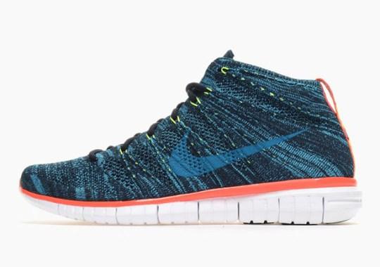 Nike Free Flyknit Chukka – Dark Obsidian – Blue Lagoon