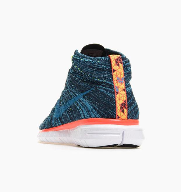 a2f341d3254b Nike Free Flyknit Chukka Color  Dark Obsidian Blue Lagoon-Volt-Bright  Crimson Style Code  639700-401