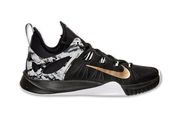 paul george shoes black and gold