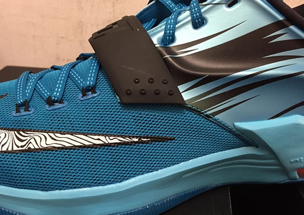 info for a8b23 2cddb Nike KD 7 – Light Blue Lacquer – Clearwater – Total Orange – White