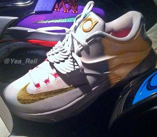 purchase cheap cbe2d f903e Nike KD 7 Premium - White - Metallic Gold - Pink Pow - Pure Platinum ...