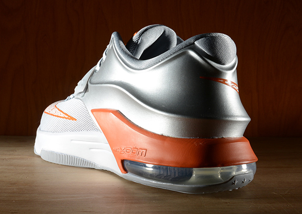 finest selection 76d54 5fa82 Buy Online 2015 Nike KD 7 WILD WEST Metallic Silver Urban Orange