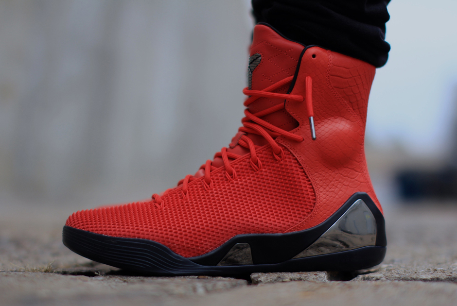 bedc3c329a63 official store nike kobe 9 ext krm challenge red on feet images sneakernews  0d39a 9fd5b
