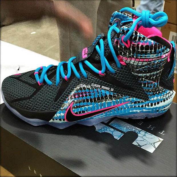 Nike LeBron 12 – Black – Pink – Blue Lagoon