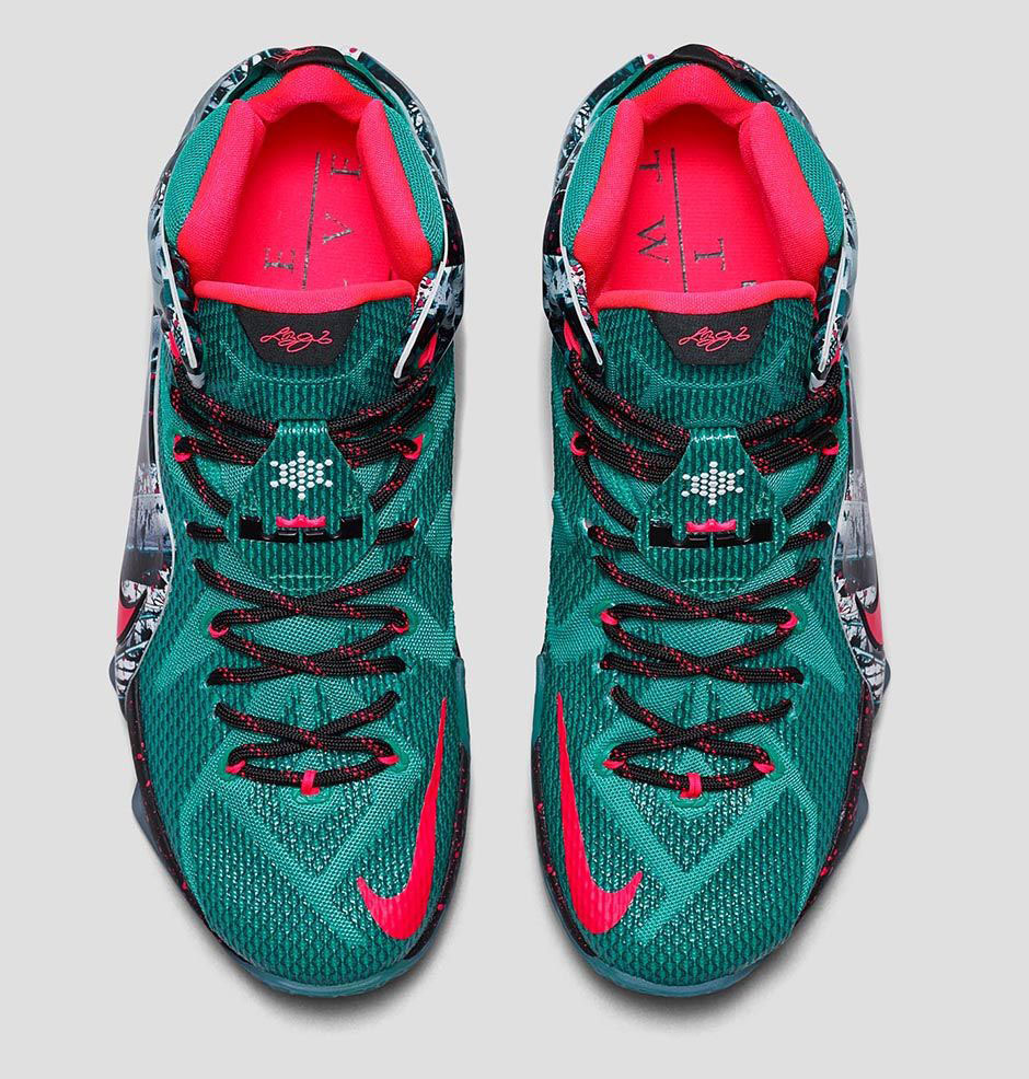 "05db6258c1e2 Nike LeBron 12 ""Christmas"" Color  Emerald Green  Hyper Punch-Dark Emerald  Style Code  707558-363. Release Date  12 26 14. Price   220"
