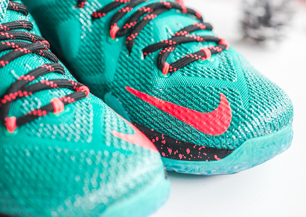 authentic nike lebron 12 christmas reminder 6 01b72 731e4  denmark nike  lebron 12. color emerald green hyper punch dark emerald style code 707558  363 810bba4751f