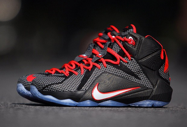 760c9075ccc2c Nike LeBron 12 - Black - Bright Crimson - White - SneakerNews.com