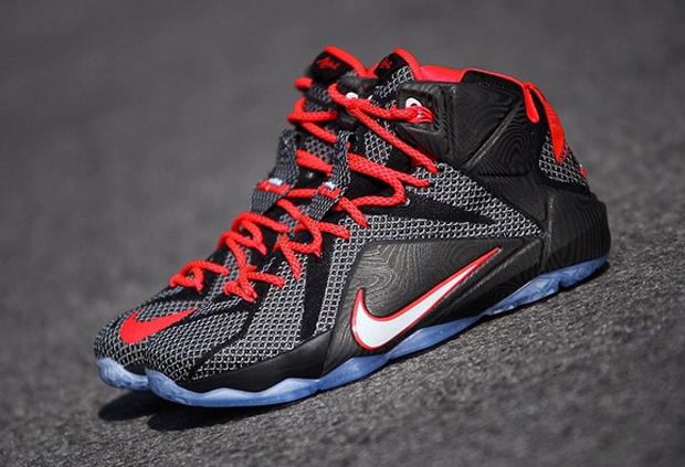 b07207756f1a4 Nike LeBron 12 - Black - Bright Crimson - White - SneakerNews.com