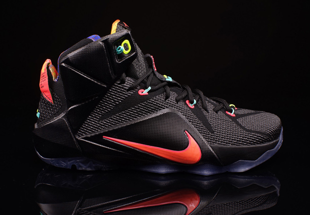 "check out 31726 e6431 Nike LeBron 12 ""Data"" Color  Black Bright Mango-Hyper Punch-Volt Style  Code  684593-068. Release Date  December 19th, 2014. Price   200"