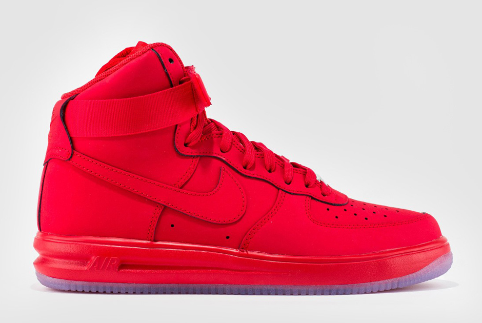all red high top air force ones