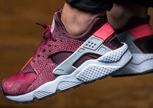 "Another Look at the Nike Women's Air Huarache ""Team Red"""