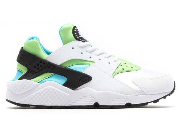 Nike Air Huarache White And Green