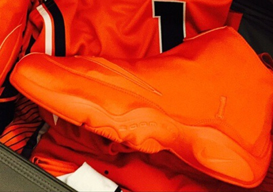 "Nike Zoom Flight The Glove ""All Orange"" PE for Gary Payton's Son"