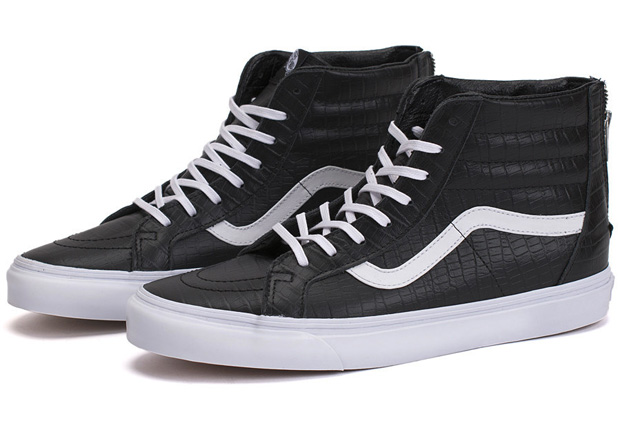 vans sk8 hi leather zip