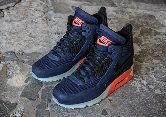 Nike Air Max 90 Sneakerboot Ice – Midnight Navy – Bright Crimson