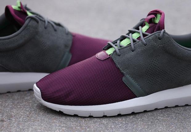 e5cee45a3842c Nike Roshe Run NM - Villain Red - Light Stone - Poison Green ...