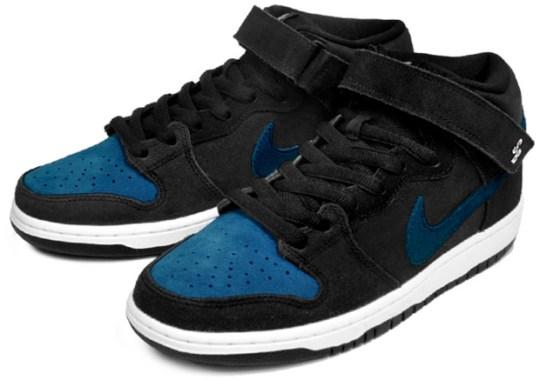 Nike SB Dunk Mid – Black – Blue Force – White