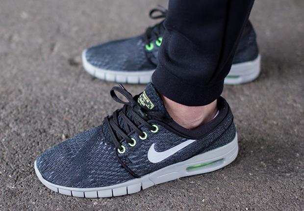 3d4ecd90a394 ... Nike SB Stefan Janoski Max - Wolf Grey - Flash Lime - SneakerNews.com  ...