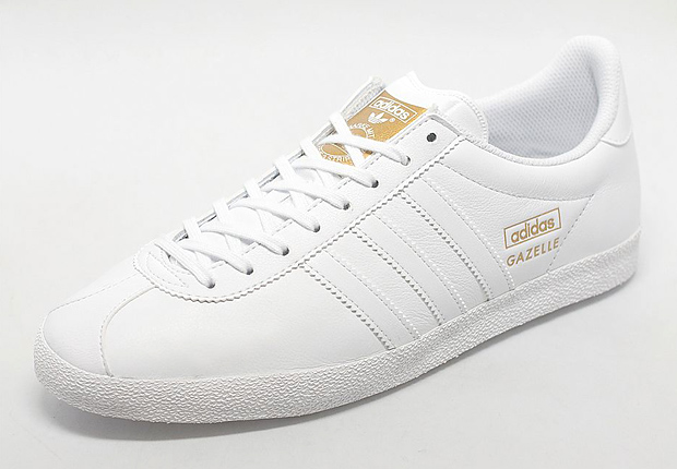 adidas gazelle white leather