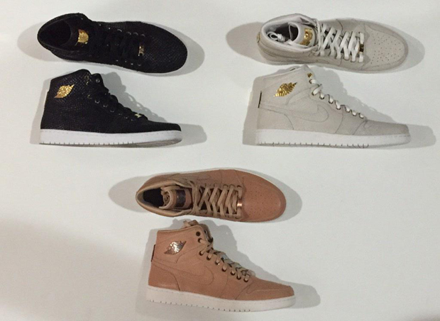 air jordan 1 metal plated collection letters
