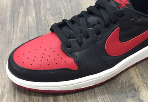 "d22286dd160a92 Air Jordan 1 Retro Low OG ""Bred"" – Release Date"