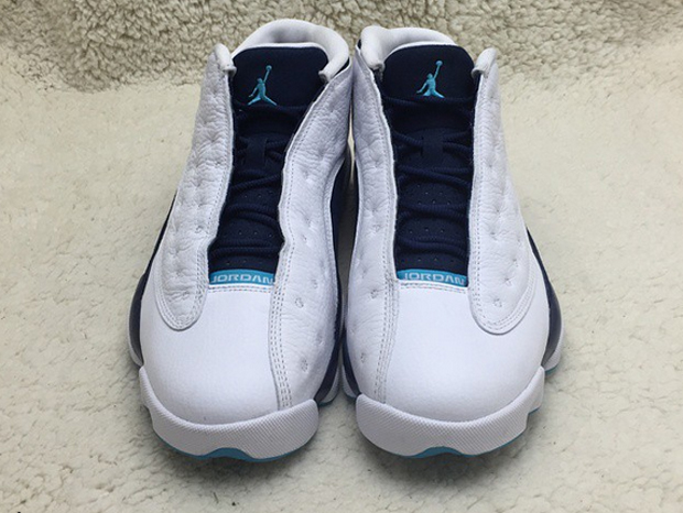 3997da3e8ea2cd ... denmark air jordan 13 low retro color white metallic silver midnight  navy turquoise style code 310810