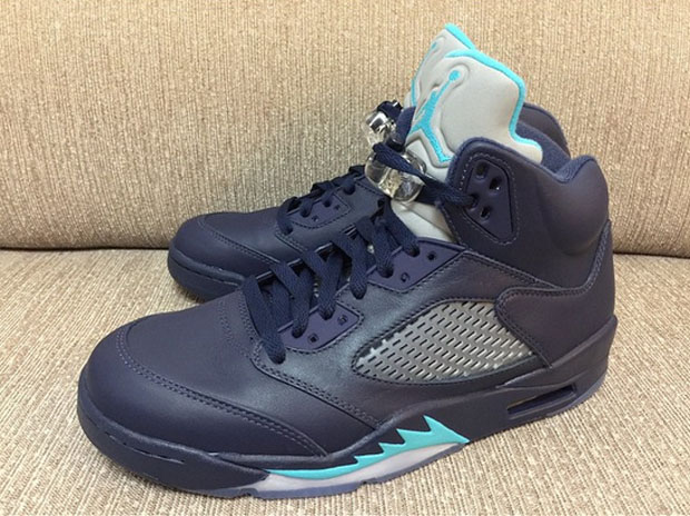 """e12f6b2234d6 Air Jordan 5 """"Midnight Navy"""" Color  Midnight Navy Turquoise-White Style  Code  136027-405. Release Date  05 02 15. Price   190"""