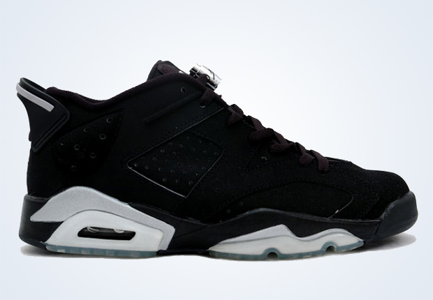 "57b552af8d2 Air Jordan 6 Low ""Black/Metallic Silver"" Color: Black/Metallic Silver-White  Style Code: 304401-003. Release Date: 08/22/15"
