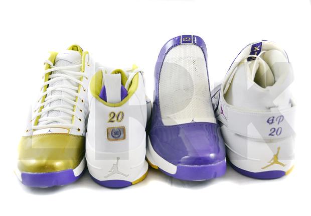 "3f353d502bda Air Jordan 19 – Gary Payton ""Lakers"" PE Set on eBay"
