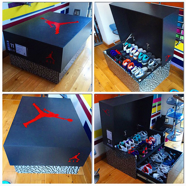 Awesome Sneaker Storage Solution Inspired By Air Jordan 3 Box