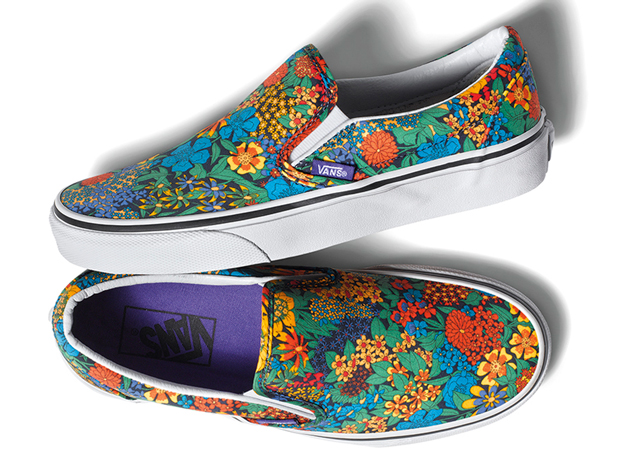 efdc977d78b948 The Slip-On is more up Liberty s alley given the vibrant floral  arrangement. Each pair is slated for a women s only release and is expected  to arrive later ...