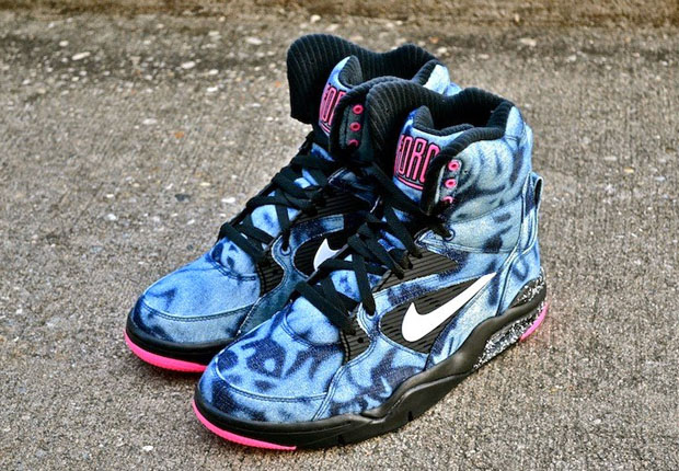 Authentic Nike Air Command Force Acid Wash  Lifestyle Sneakers  BlackPinkWhite