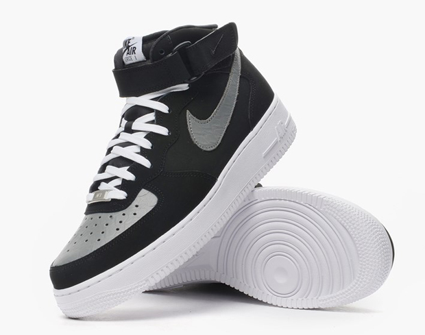 air force 1 black and grey
