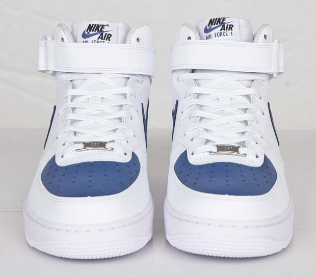 Nike Air Force 1 Midt - Hvit - Blå Lagune QZGVzTc5d