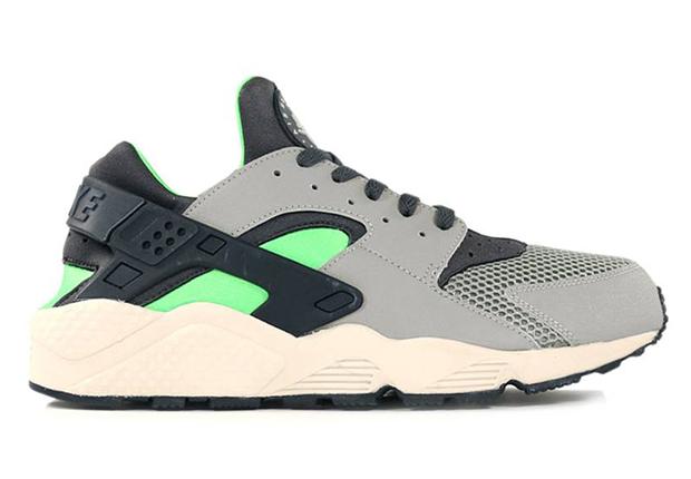 Nike Air Huarache Grey Neon Black