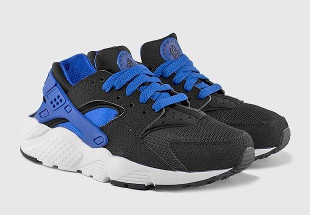 competitive price 20772 ab271 Nike Air Huarache GS – Black – Lyon Blue