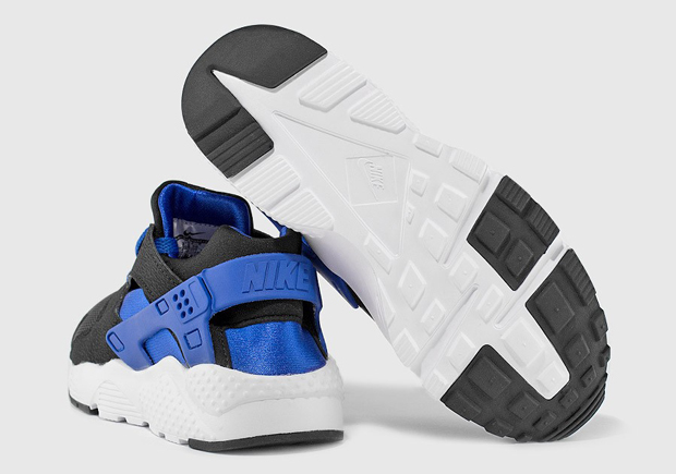 27a318240f03 Nike Air Huarache GS Color  Black Lyon Blue-White Style Code  654275-005.  Price   85