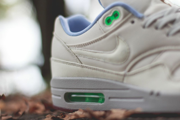 sale retailer 870e6 59e69 Nike Air Max 1 FB Color  Light Bone Light Bone-Poison Green Style Code   579920-003. Advertisement