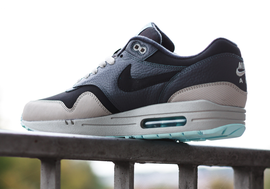 mens nike air max 1 leather running shoes