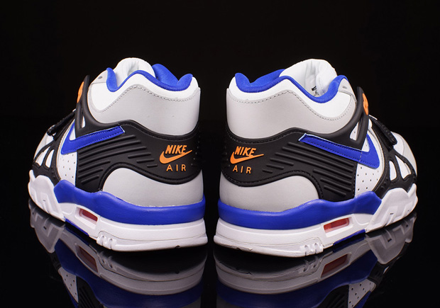"the latest c85e6 8326b Nike Air Trainer 3 ""Knicks"" Color  White Pure Platinum-Lyon Blue-Black-Total  Orange Style Code  705426-001. Price   120. Advertisement"