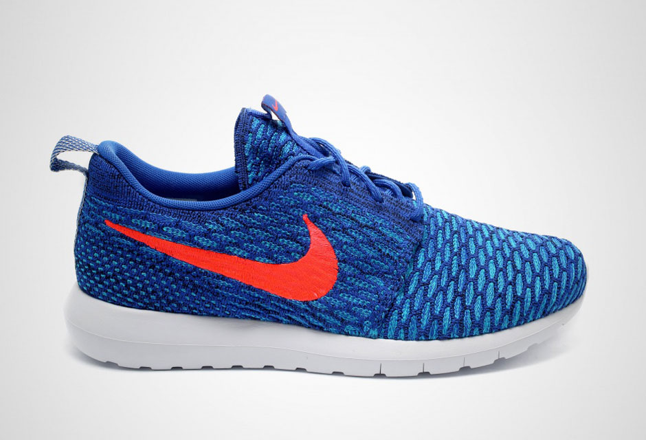 new products d4066 7276c Nike Flyknit Roshe Run – Game Royal – Bright Crimson