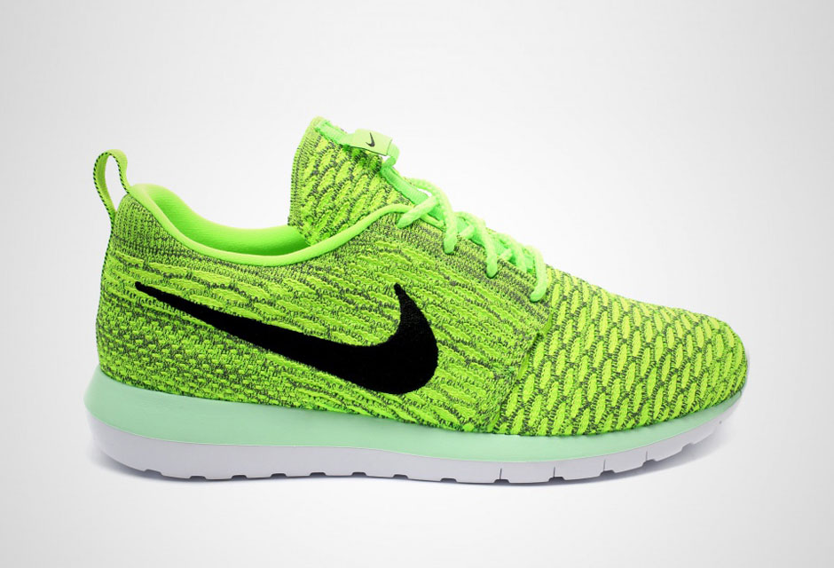 96d0f2131a09 Nike Flyknit Roshe Run - Volt - Electric Green - SneakerNews.com