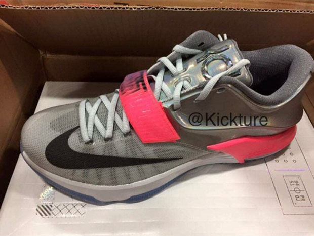 "sports shoes be0e4 a994f Nike KD 7 ""All-Star"" Color  Pure Platinum Multi-Color-Black Style Code   74258-090. Release Date  02 13 15. Price   170"
