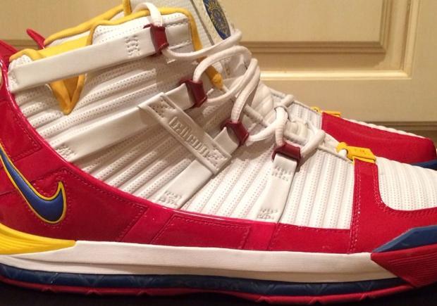"970b35243a6c Nike LeBron 3 ""Superman"" – Alternate Sample on eBay"
